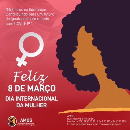 Official AMOG visual for International Women's Day 2021