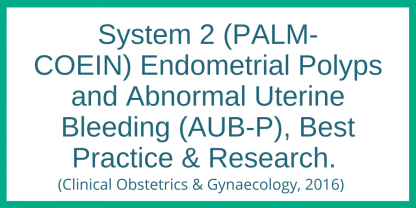 System 2 - PALM-COEIN) - Adenomyosis and abnormal uterine bleeding