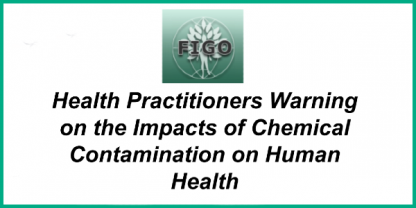 Warning on the impact of chemical contamination on human health
