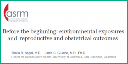 Environmental exposures and reproductive and obstetrical outcomes