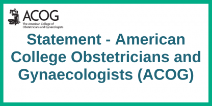 American College ACOG statement
