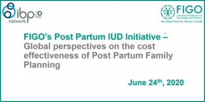 Webinar 3: Global perspectives on the cost effectiveness of Postpartum Family Planning