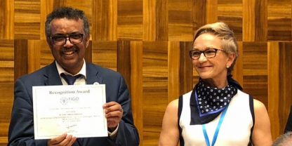 Dr Tedros joins FIGO's Cervical Cancer session during WHA71