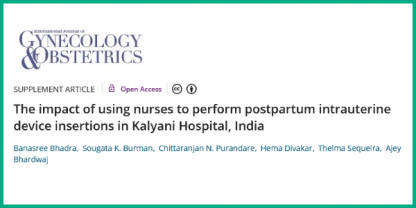 Using nurses to perform postpartum intrauterine device insertions in Kalyani Hospital, India