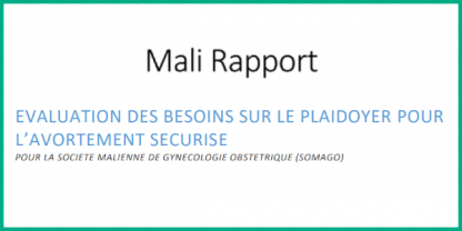 Mali report French