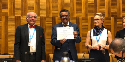 Dr Tedros joins FIGO at the World Health Assembly