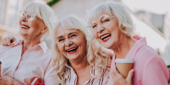 healthy ageing - white haired women