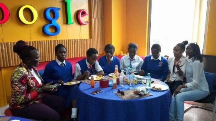 5 Kenyan girls discuss a FGM app at Google HQ