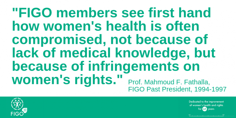 Prof. Mahmood  Fathalla looks ahead in women's health and rights