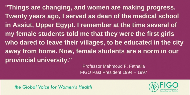 Professor Mahmoud  F. Fathalla quote
